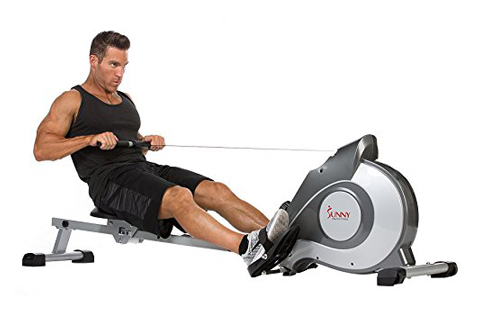 Sunny Health & Fitness Magnetic Rowing Machine with LCD Display