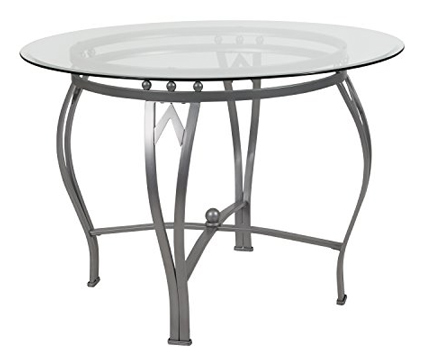 Flash Furniture Syracuse 42'' Round Glass Dining Table