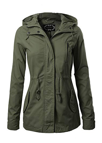 Design by Olivia InStar Mode Women's Military Anorak Safari Hoodie