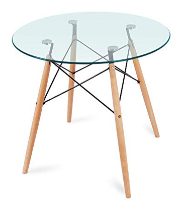 Nidouillet Round Glass Dining Table, Coffee Desk